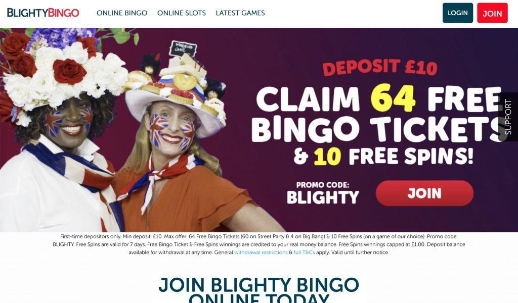 Blighty Bingo Offers